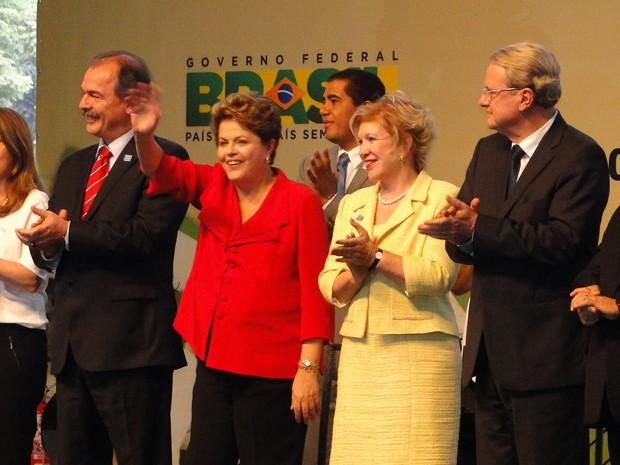 Presidente Dilma Rousseff participa de formatura de alunos do Pronatec em Belo Horizonte (Foto: Pedro Ângelo / G1)