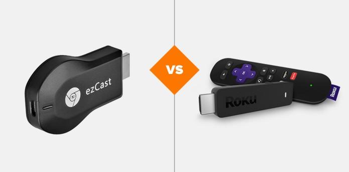 EZCast ou Roku: leia o comparativo de ficha técnica dos dongles (Foto: Arte/TechTudo)