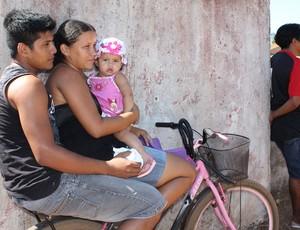Família assiste o II Open de Futevôlei de Porto Velho (Foto: Shara Alencar/GLOBOESPORTE.COM)