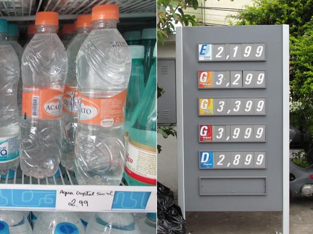 Preços em posto na rua Serra de Bragança, zona leste de São Paulo. (Foto: Karina Trevizan/G1)