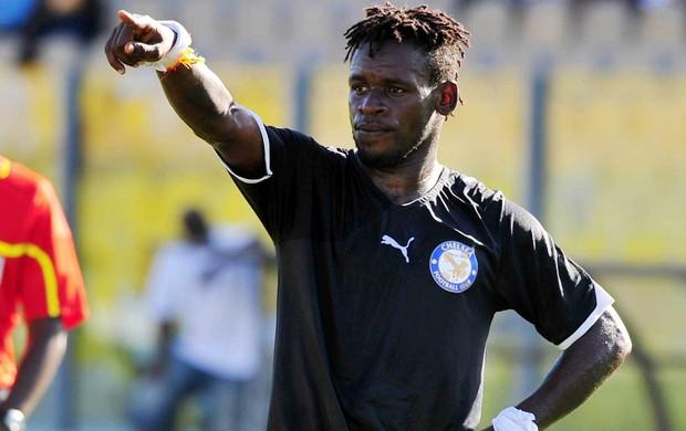 Emmanuel Clottey, atacante do Berekum Chelsea, de Gana. (Foto: Reprodução / Site Oficial)