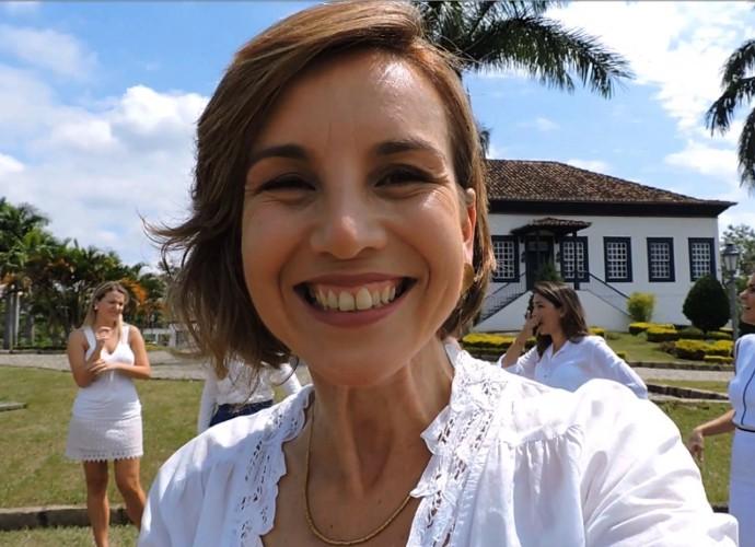 Teresa Freitas mandou um recado para o site do 'Revista' (Foto: Reprodução)