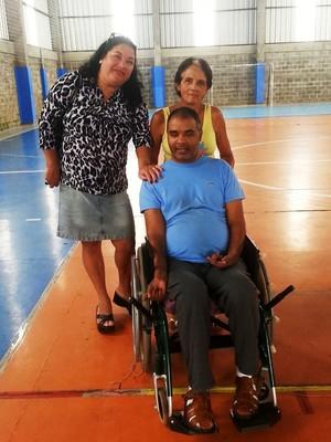 Elizabeth, Ângela e Anservis bocha paralímpica Juiz de Fora (Foto: Roberta Oliveira)