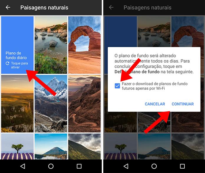 Como mudar papel de parede do android automaticamente com for App para planos