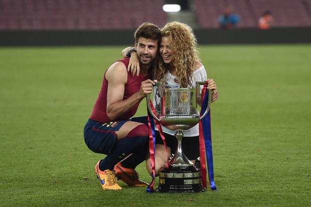Shakira e Gerard Piqué (Foto: Josep Lago/AFP)