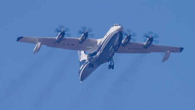 AG600, maior avião anfíbio do mundo  (Foto: EFE)