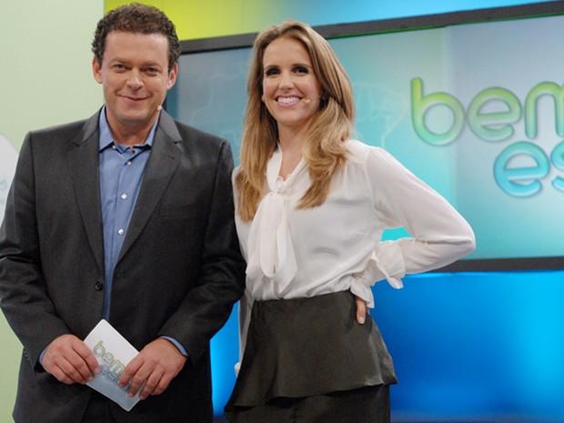 """Apresentadores do """"Bem Estar"""" Fernando Rocha e Mariana Ferro (Foto: CEDOC/TV Globo)"""