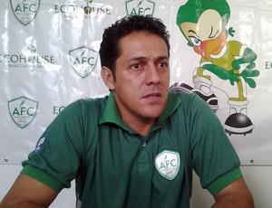 Maurílio Silva, novo técnico do Alecrim (Foto: Jefferon Hallyday/Inter TV Cabugi)