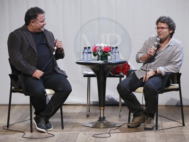 Leo Jaime e diretor Luiz Henrique Rios em evento no Rio (Foto: Roberto Filho/ Ag. News)