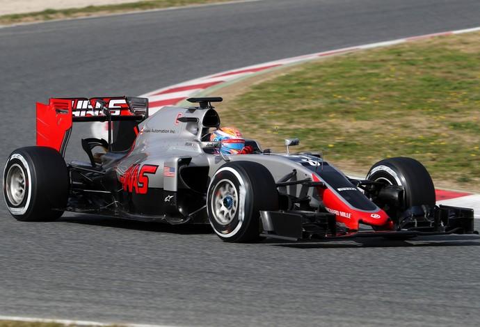 Grosjean põe a Haas bem perto do topo nesta quarta (Foto: Getty Images)
