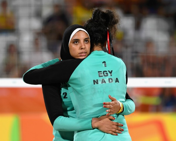 As egípcias Doaa Elgobashy e Nada Meawad (Foto: Getty Images)