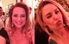 Loiraças Viviane Pasmanter e Bianca Rinaldi capricharam no visual pra 'selfie' (Foto: Em Família / TV Globo)