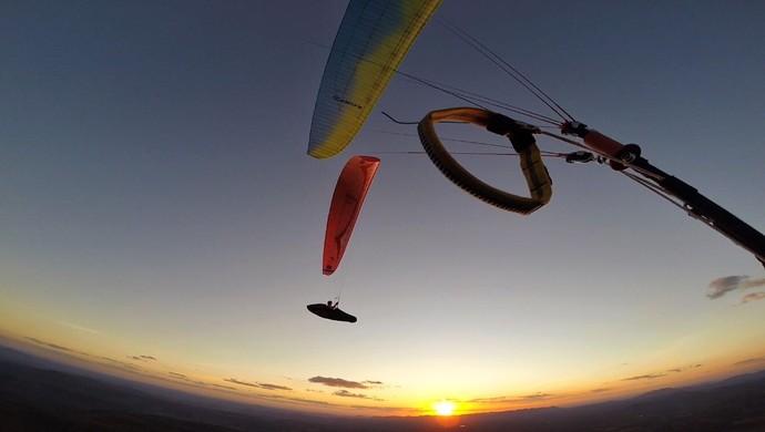 Parapente, recorde mundial, paraiba (Foto: Divulgação )