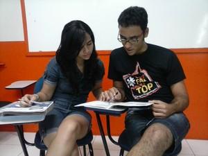 Alunos acelaram os programas de estudos para o Enem (Foto: Leidy Brunna/ Arquivo pessoal)