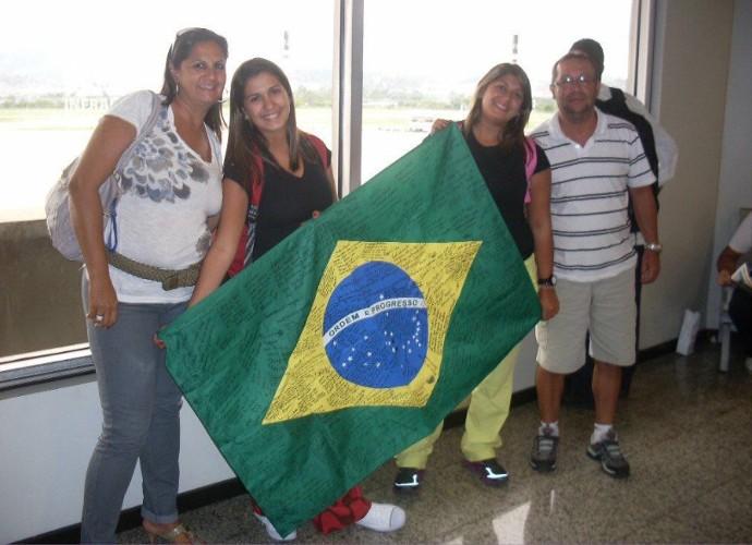 Raquel contou que o que mais sente falta no Brasil é da família (Foto: Raquel Conforte/ Arquivo Pessoal)