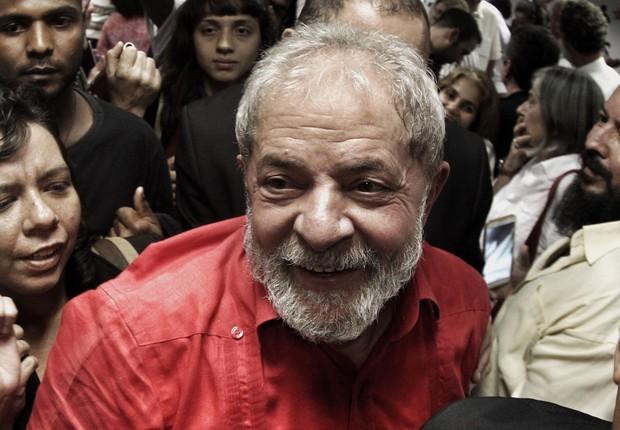O ex-presidente Luiz Inácio Lula da Silva participou do lançamento do 6º Congresso Nacional do PT (Foto: Filipe Araújo/Fotos Públicas)