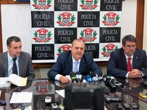 Polícia explica detalhes de investigações de sequestro de filhas de vereador de Cubatão, SP (Foto: Antonio Marcos/G1)