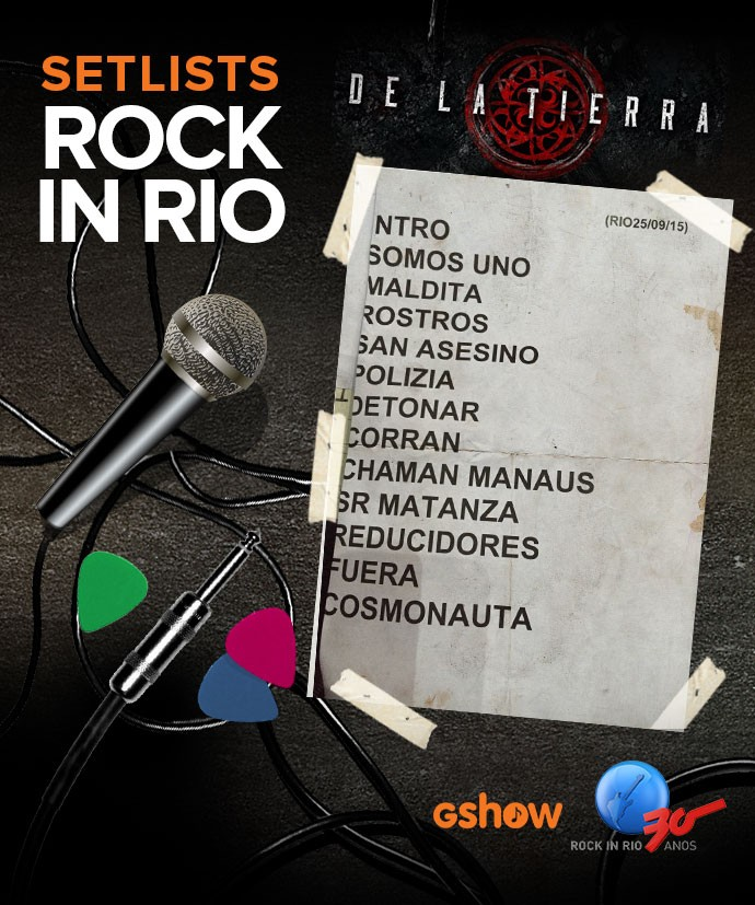 Setlist De La Tierra (Foto: Arte: Fernando Ribas/Gshow)