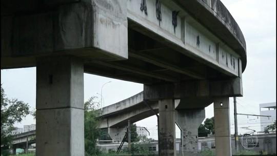 Viaduto em Belford Roxo, RJ, tem problemas estruturais graves e TJ pede interdição parcial no local