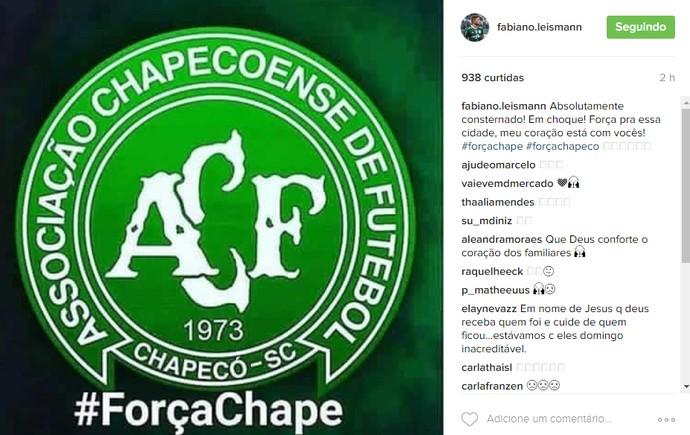 Fabiano Instagram Chapecoense (Foto: Reprodução/Instagram)