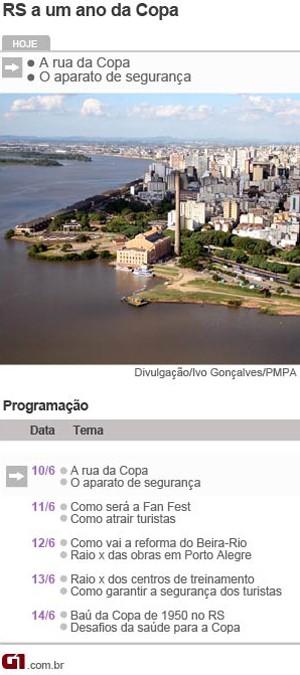 Arte de cronograma de matérias especiais da Copa em Port5o9 Alegre (Foto   Arte  fb6cf663663