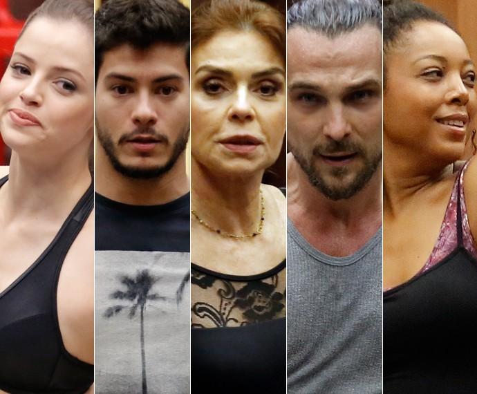 Agatha Moreira, Arthur Aguiar, Françoise Forton, Igor Rickli e Negra Li fazem parte do grupo A (Foto: Fábio Rocha / Gshow e Felipe Monteiro / Gshow)