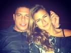 Paula Morais ganha carinho de Ronaldo e se declara: 'Meu amor'