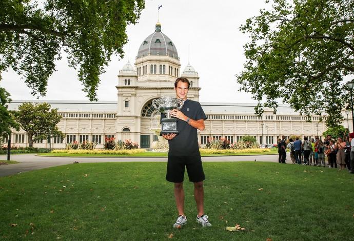 Para sagrar-se campeão, Federer derrotou Rafael Nadal (Foto:  Daniel Pockett/Getty Images)
