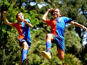 Netos de Pelé perseguem o sonho de mostrar em campo o DNA real (Foto: Marcos Ribolli / Globoesporte.com)