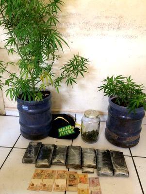 Drogas foram encontradas por cão da PM em Piracicaba  (Foto: Polícia Militar de Piracicaba)
