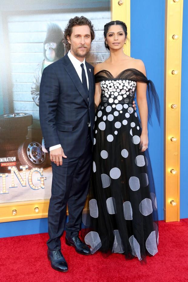 Matthew McConaughey e Camila Alves em première de filme em Los Angeles, nos Estados Unidos (Foto: Frederick M. Brown/ Getty Images/ AFP)