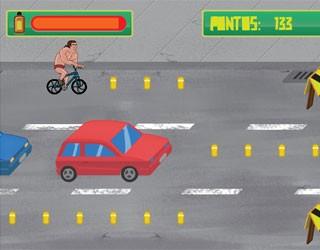 Use muito óleo e pedale pelas ruas de Curitiba (Reprodução/ RPC TV)