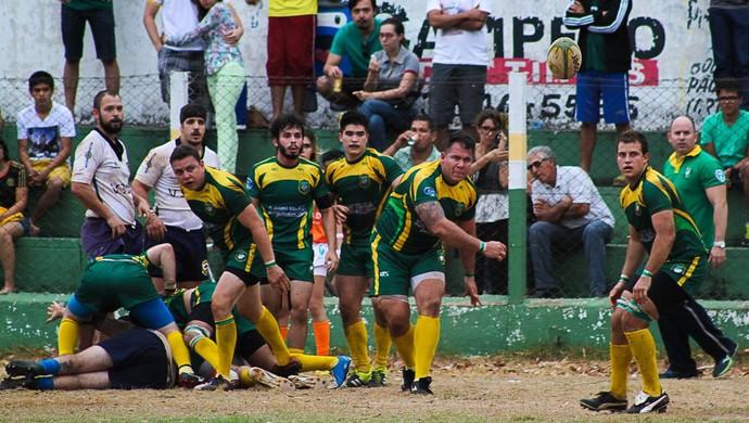 Goianos fizeram 18 a 3 sobre o Cuiabá na partida de ida do Pequi Nations (Foto: Bruno Cidade/Divulgação)