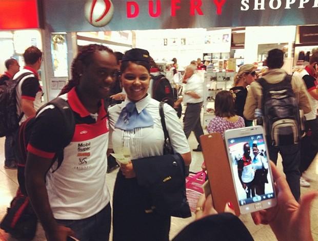 Vagner Love Flamengo (Foto: Twitter / Alexandre Vidal)