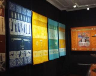 Mostra traz trabalhos sobre a arte têxtil africana (Foto: Divulgação/ Eloísa Marques)