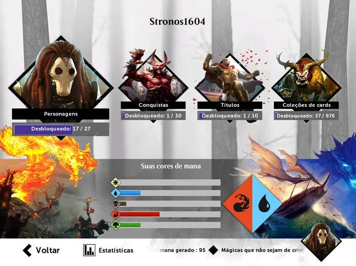Com várias informações sobre a experiência de jogo, o game possui um visual organizado e muito bem planejado (Foto: Reprodução/Daniel Ribeiro)