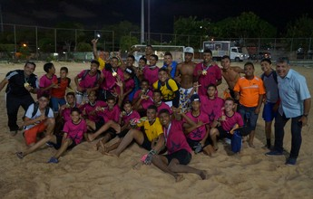 Escola José Fernandes Machado leva ouro no beach soccer juvenil nos Jerns