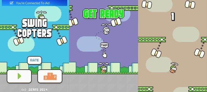 Swing Copters é o novo desafio para os amantes de Flappy Bird (Foto: Divulgação)
