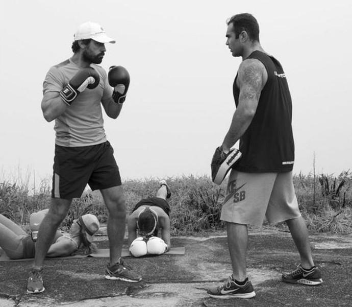 Ricardo Pereira na aula de boxe (Foto: Arquivo Pessoal)