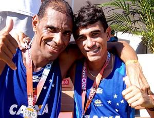 Maratona do Rio 2013 giomar pereira Marcos Antônio (Foto: Fernanda Cansanção)