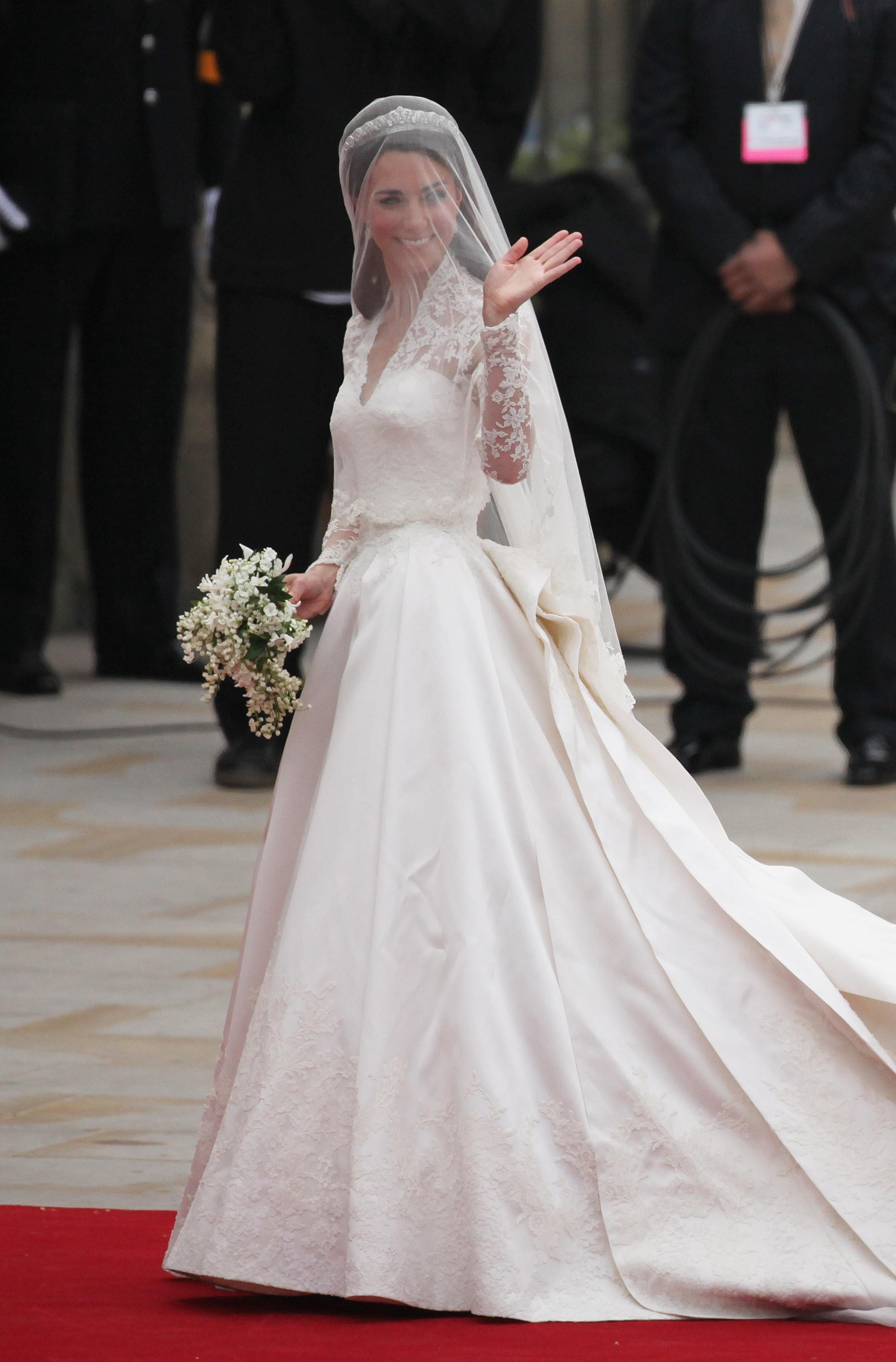 Kate Middleton: um show de simpatia até em seu casamento (Foto: Getty Images)