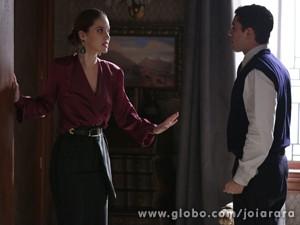 Que ousada! Será que Franz vai descobrir sobre o envolvimento dos dois? (Foto: Joia Rara/ TV Globo)