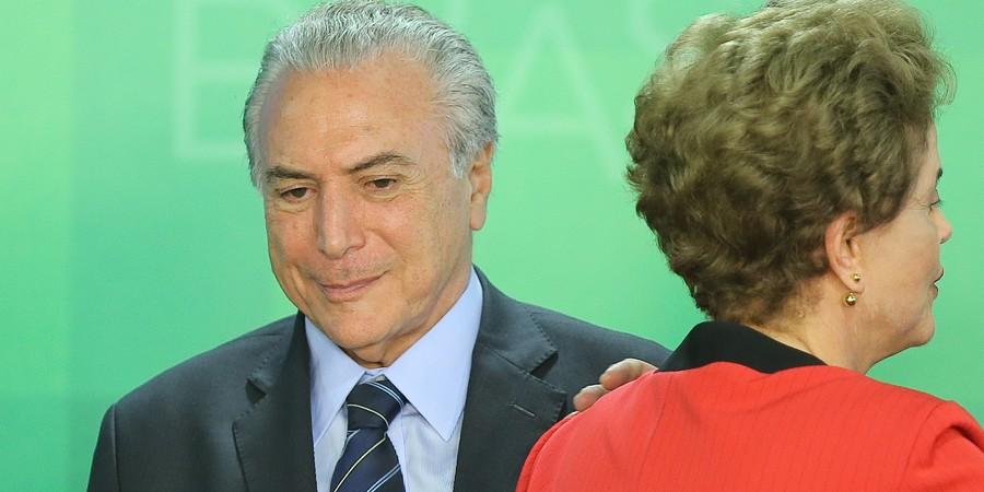 Dilma e Temer. (Foto: Folhapress)
