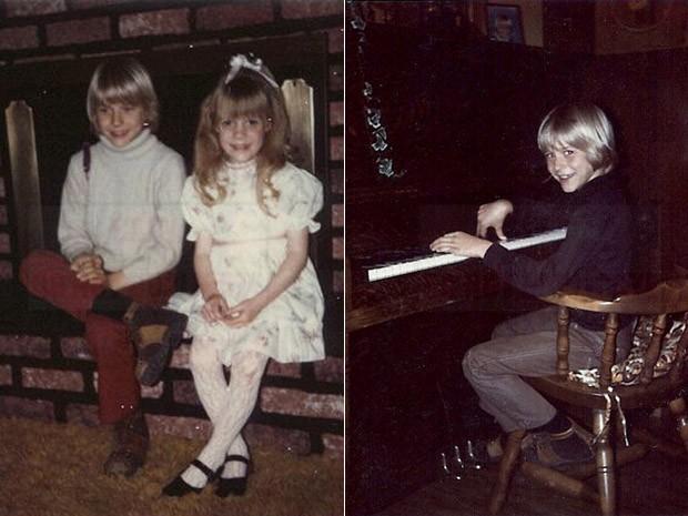 Fotos de Kurt Cobain quando criança na casa onde a família morou em Aberdeen, Washington, EUA (Foto: AP Photo/Courtesy Kim Cobain)