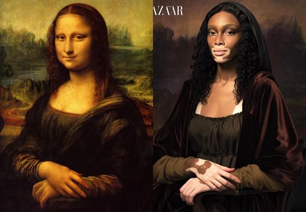 Winnie Harlow encarnou Mona Lisa (Foto: Reprodução)