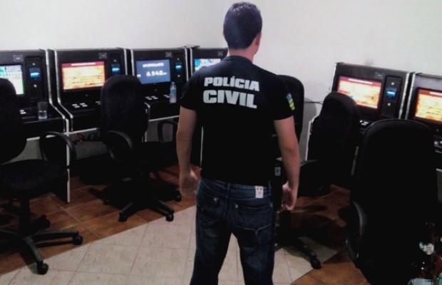 Polícia fecha casa de jogos de azar em Caldas Novas, Goiás (Foto: Divulgação/Polícia Civil)
