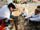 Restauro e limpeza dos trilhos do bondinho têm início em Manaus