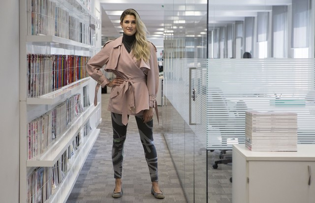 """Barbara Migliori fala sobre a legging no """"Dicas Bárbaras"""" (Foto: Pablo Escajedo)"""