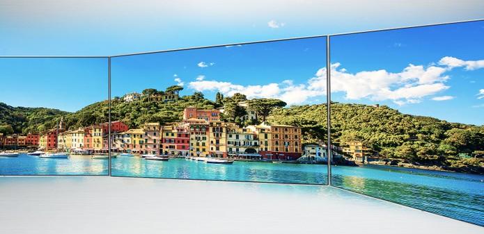 Smart TV da LG é projetada com telona de 86 polegadas em 4K (Foto: Divulgação/LG)