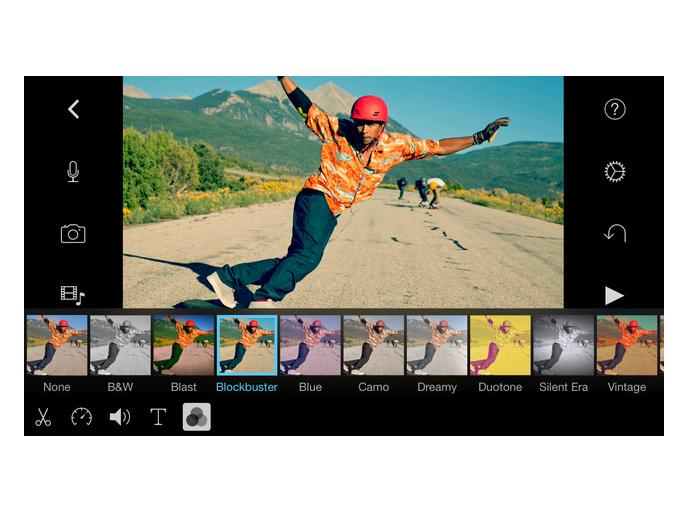 iMovie, aplicativo oficial da Apple, também foi otimizado para o Plus (Foto: Divulgação)